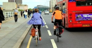 Safe cycling: no helmet and female