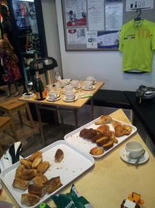 Coffee and pastries (and some fizz..)