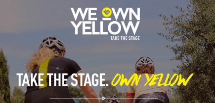 #TakeTheStage / #WeOwnYellow promoting women's  cycling with Vos, Charlton and Barnes